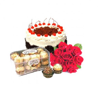 Cake,Chocolate & Flowers