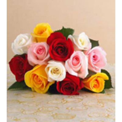 12 Mixed Roses Bunch