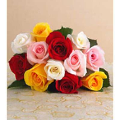 12 Mixed Roses Bunch