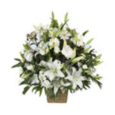 Lillies and Roses Basket