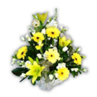 Lillies n Gerberas Basket
