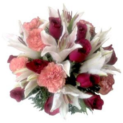 Lilies Roses Carnations