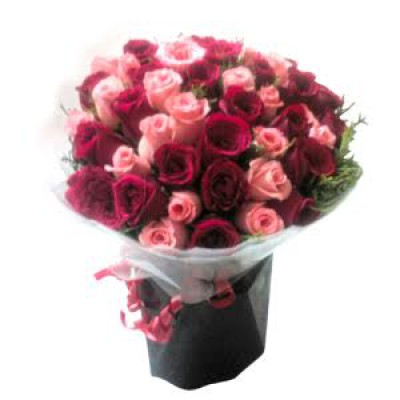 Pink n Red Roses Bunch