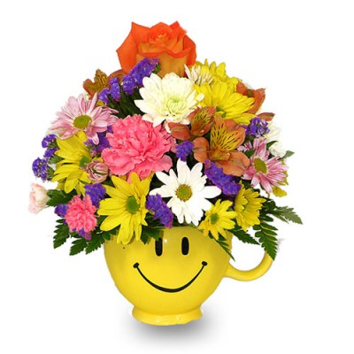 Flowers in Smily Mug