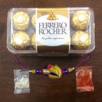 Blue rakhi n Ferrero
