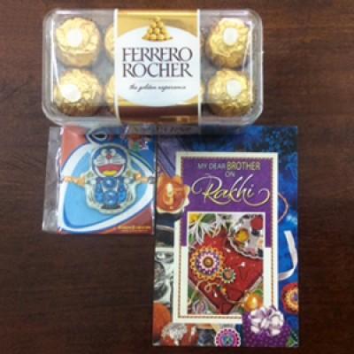 Kids rakhi,card n Ferrero