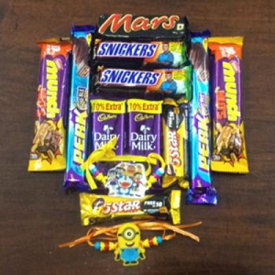 Rakhi  and Chocolate Gift