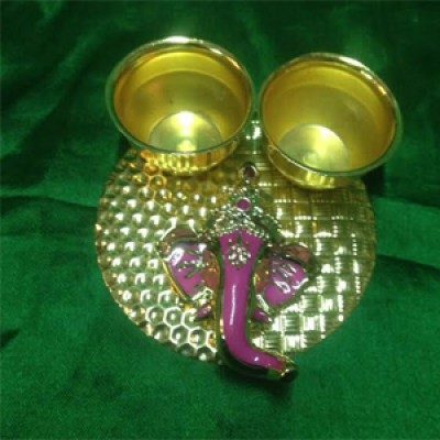 Ganesha  Decorative Holder for Haldi & Kumkum
