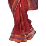 Brown Silk Cotton Saree