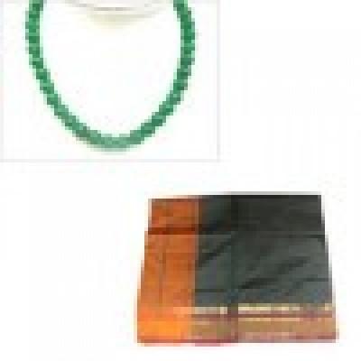 Green Polycot Saree