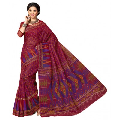 Beautiful Multicoloured Cotton Saree